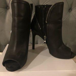 Black zipper booties